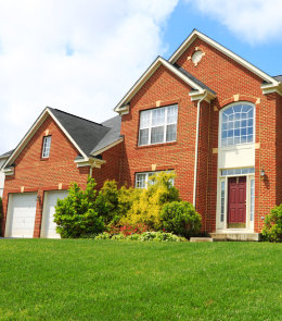 American suburban house