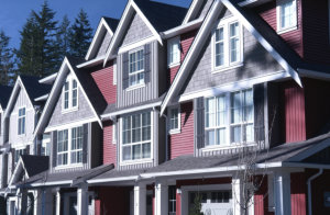 New townhouses built in British Columbia, Canada