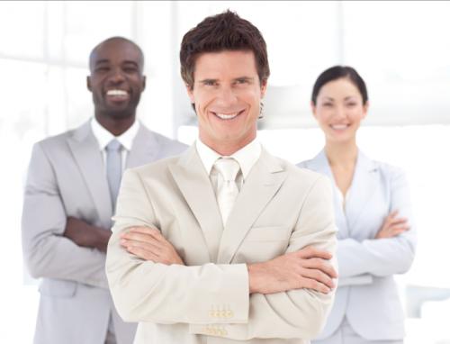 professionals smiling